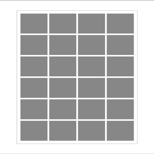 Dikey 24 lü Mozaik Tablo görseli.