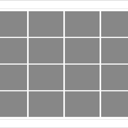 Kare 16 lı Mozaik Tablo görseli.