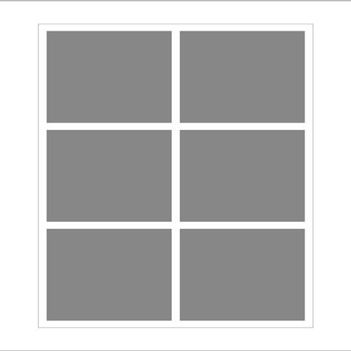 Dikey 6 lı Mozaik Tablo görseli.