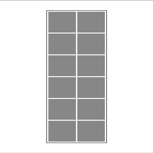 Vertica 3/1 Mozaik Tablo 12 li görseli.