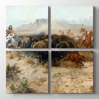 The Buffalo Hunt  görseli.