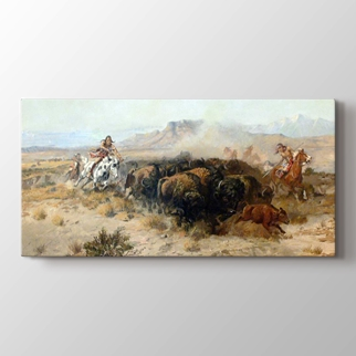 The Buffalo Hunt  görseli.