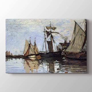 Honfleur Limanında Tekneler görseli.