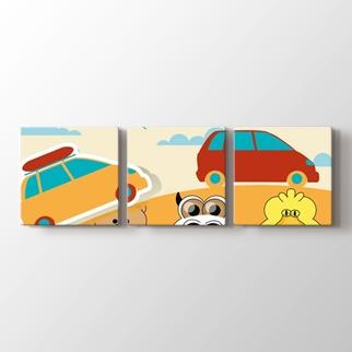Hayvanlar ve Araba  görseli.