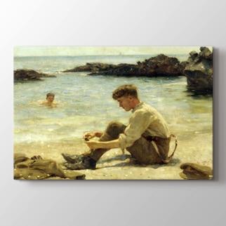Newporth Plajı'nda askeri öğrenci  görseli.