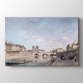 Paris'te Seine ve Notre Dame  görseli.