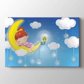 Ay'da Uyuyan Kız görseli.