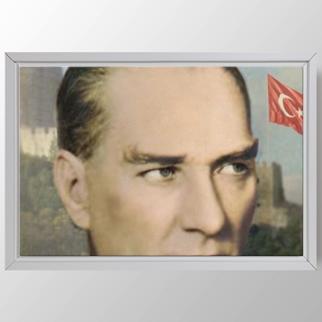 Atatürk ve Bozkurt görseli.