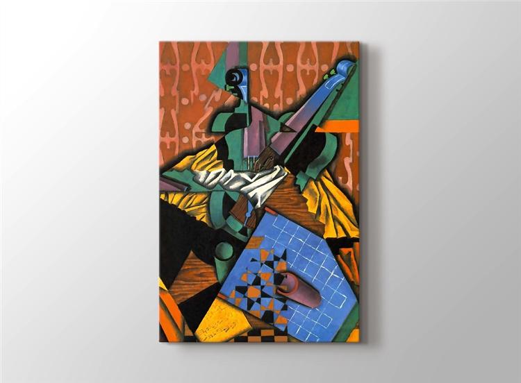 Violin and Checkerboard