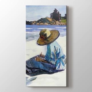 Kumsalda Kadın  görseli.