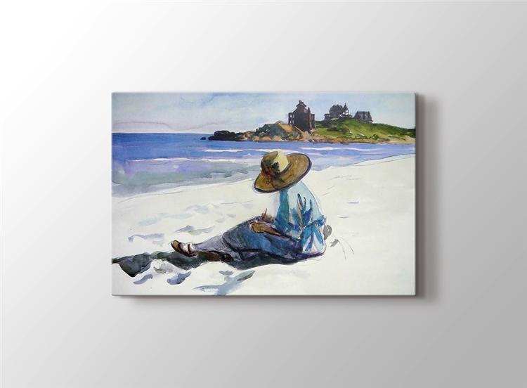 Kumsalda Kadın