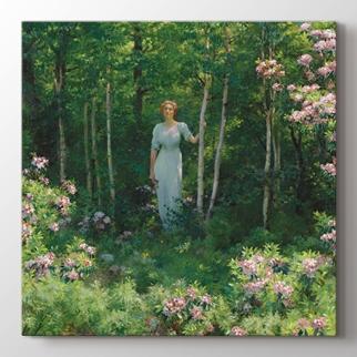 Resimde Kadın ve Çiçekler  görseli.
