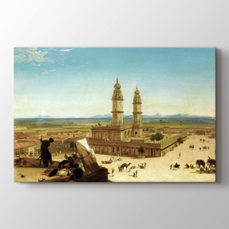 Oriental Landscape With Mosque  görseli.