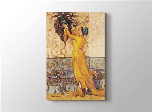 Vazo Yerleştiren Kız görseli