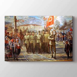 Türk Ordusu İzmir'e Girerken görseli.