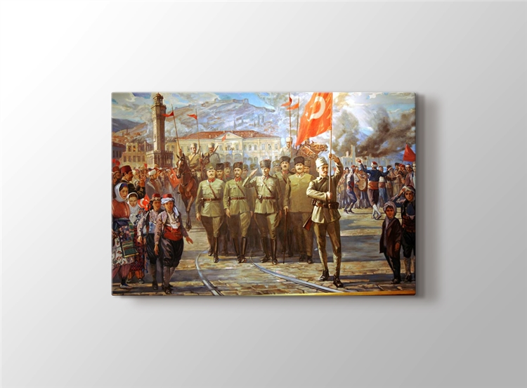 Türk Ordusu İzmir'e Girerken