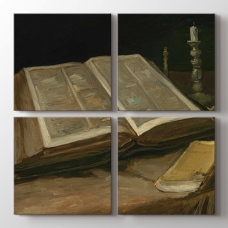 İncil ve Mum  görseli.