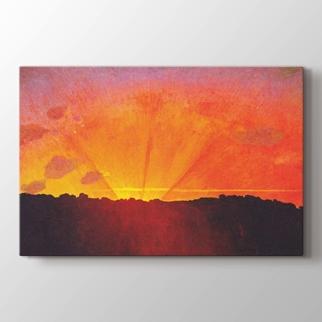 Orangefarbene Himmel görseli.