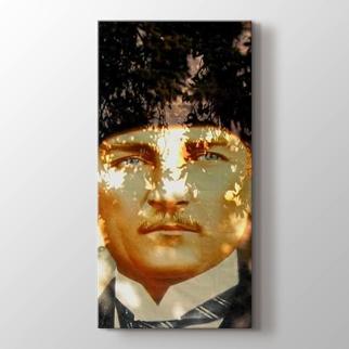 Yaprak Gölgesinde Atatürk görseli.
