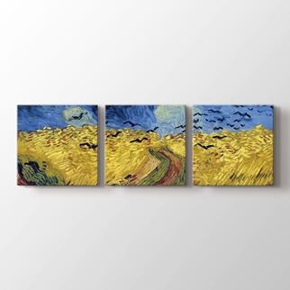 Buğday Tarlası ve Kargalar görseli.