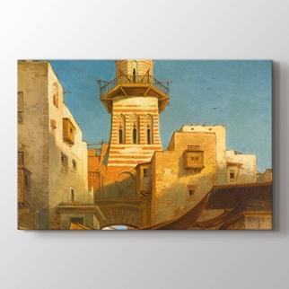 Bir minare görseli.