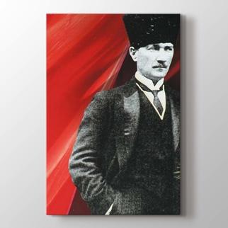 Atatürk ve Bayrak görseli.
