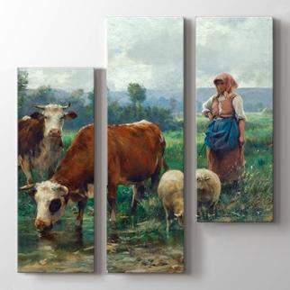 Çoban Kız ve Sürüsü görseli.