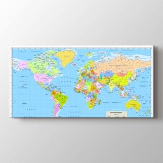 Dünya Siyasi Haritası görseli.