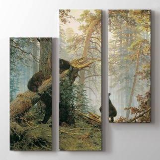 Çam Ormanında Sabah görseli.