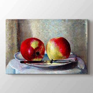 Tabakta İki Elma  görseli.