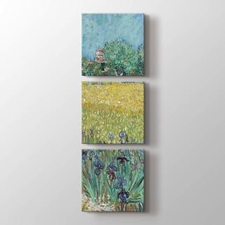 Field With Irises Near Arles  görseli.