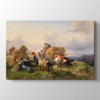 Alp Eteklerinde Hasat görseli.