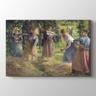 Hay Harvest at Eragny görseli.