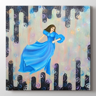 Mavi Elbiseli Kız görseli.