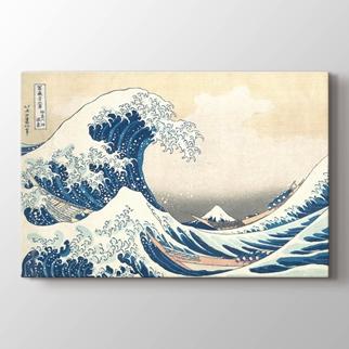 Kanagawa'daki Büyük Dalga  görseli.