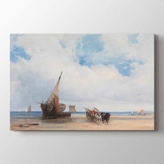 Kıyıda Tekneler ve Araba görseli.