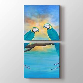 Papağanlar görseli.