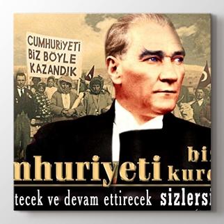 Cumhuriyette Atatürk görseli.