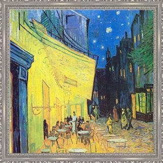Cafe Terrace at Night görseli.