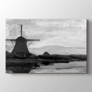 Ostzijde Windmill at Night görseli.