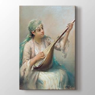Saz Çalan Kız görseli.