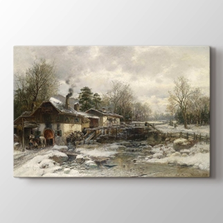 Schmiede im Winter görseli.