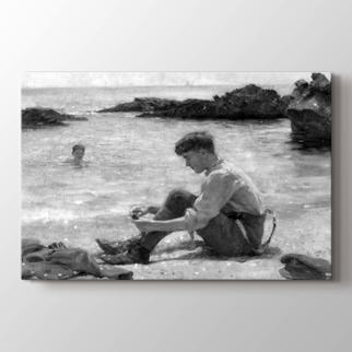 Plajda Bir Askeri Öğrenci görseli.