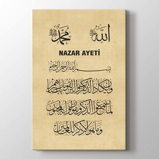 Nazar Ayeti görseli.