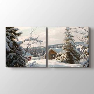 Güneşli Kış Manzarası  görseli.