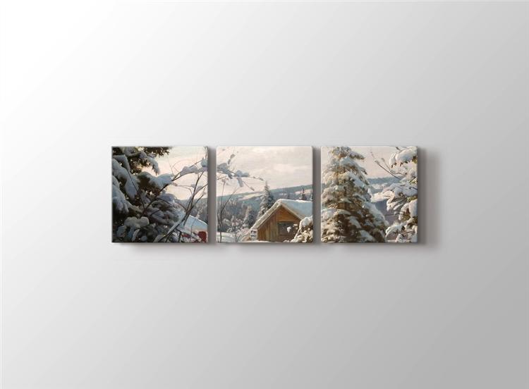 Güneşli Kış Manzarası
