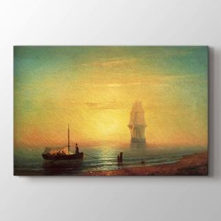 Denizde Gün Batımı görseli.