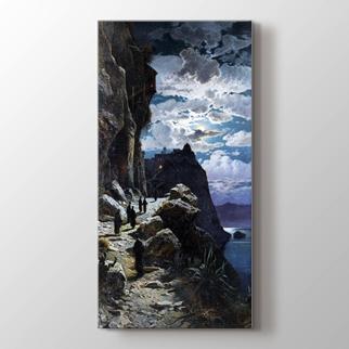 Athos Dağı'ndaki Gece  görseli.